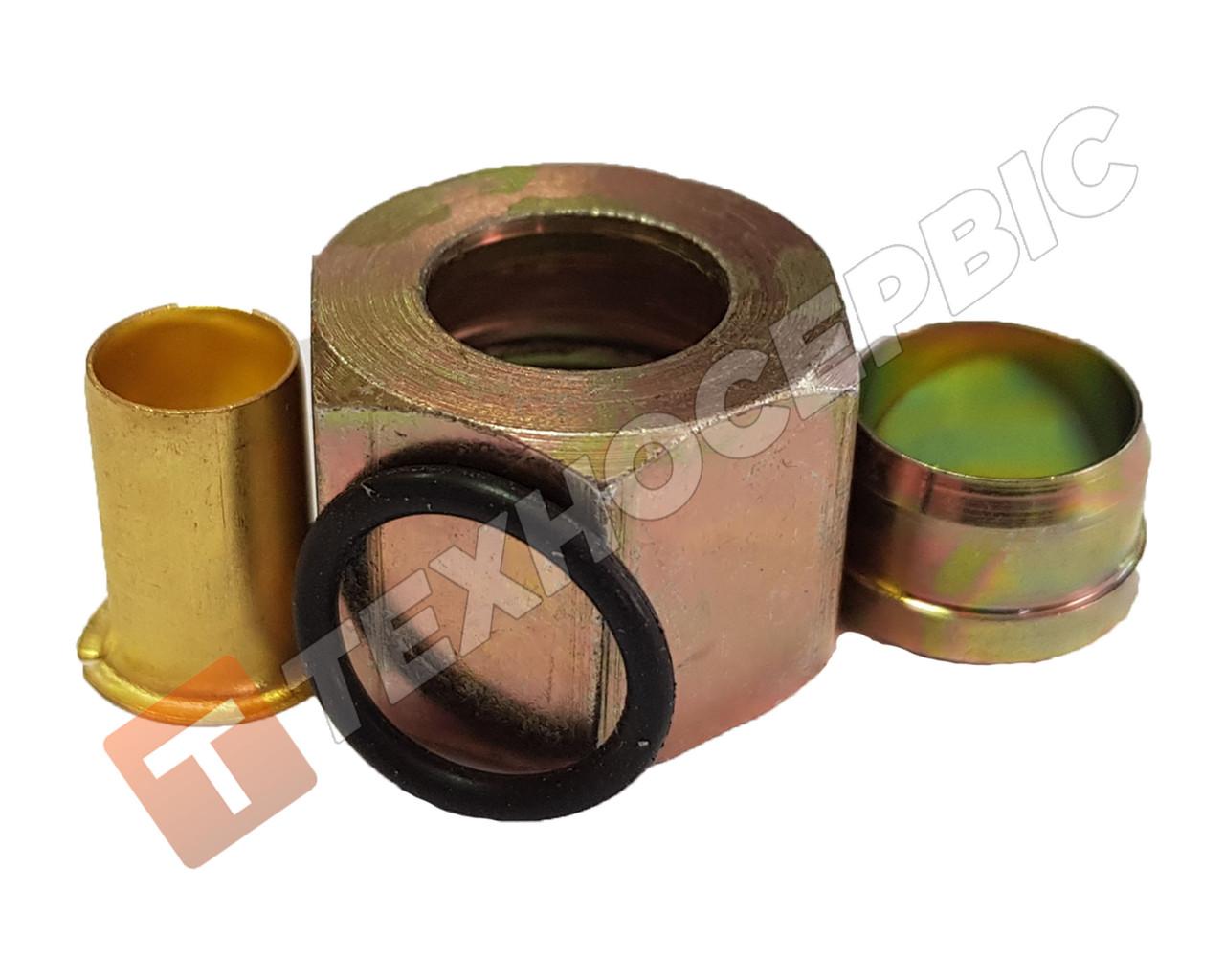 Соединитель прямой тормозной трубки разборной (фурнитура) (фитинг) Ø16мм (4 наименования)
