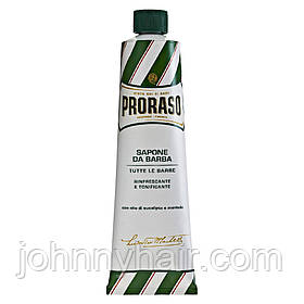 Крем для бритья с экстрактом эвкалипта и ментола Proraso Green Line 150 мл