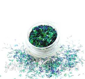 Соломка в баночці для нігтів зелений №4 А286-4