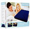 Матрас Intex Велюр 64759 синий 152х203х22см, в коробке Оригинал, фото 3