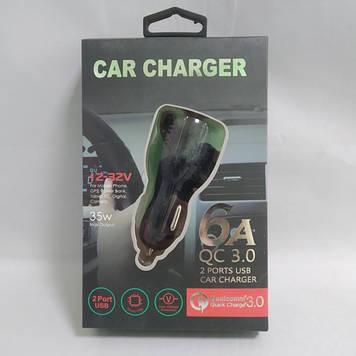 Автомобильное зарядное устройство 2 юсб 2.1 А car charger 009 Оригинал