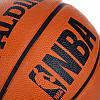 Мяч баскетбольный резиновый №7 SPALD BA-1309 NBA, резина, бутил, коричневый, фото 2