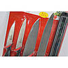 Набор металлических ножей Swiss Zurich SZ-13101 + магнитная рейка-держатель Оригинал, фото 2