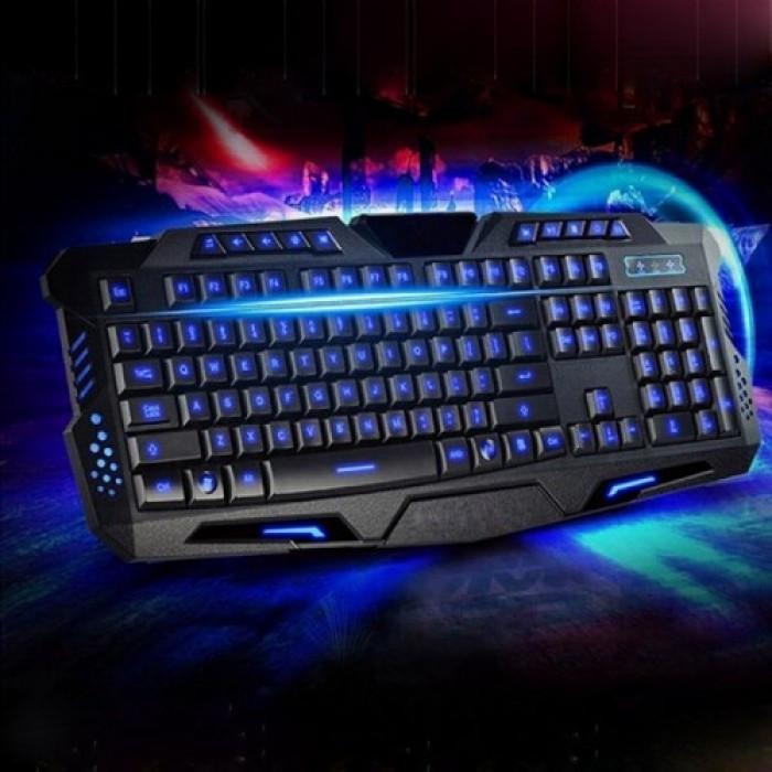 Игровая проводная русская клавиатура M200 с подсветкой USB Оригинал