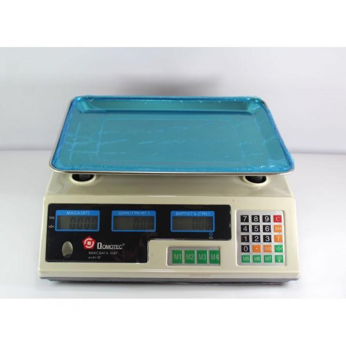 Торговые электронные весы Domotec MS-228 6V до 50 кг Оригинал