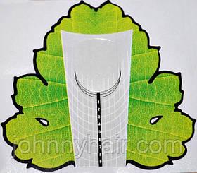 Формы для ногтей (рулон), зеленый листок большие 500 шт