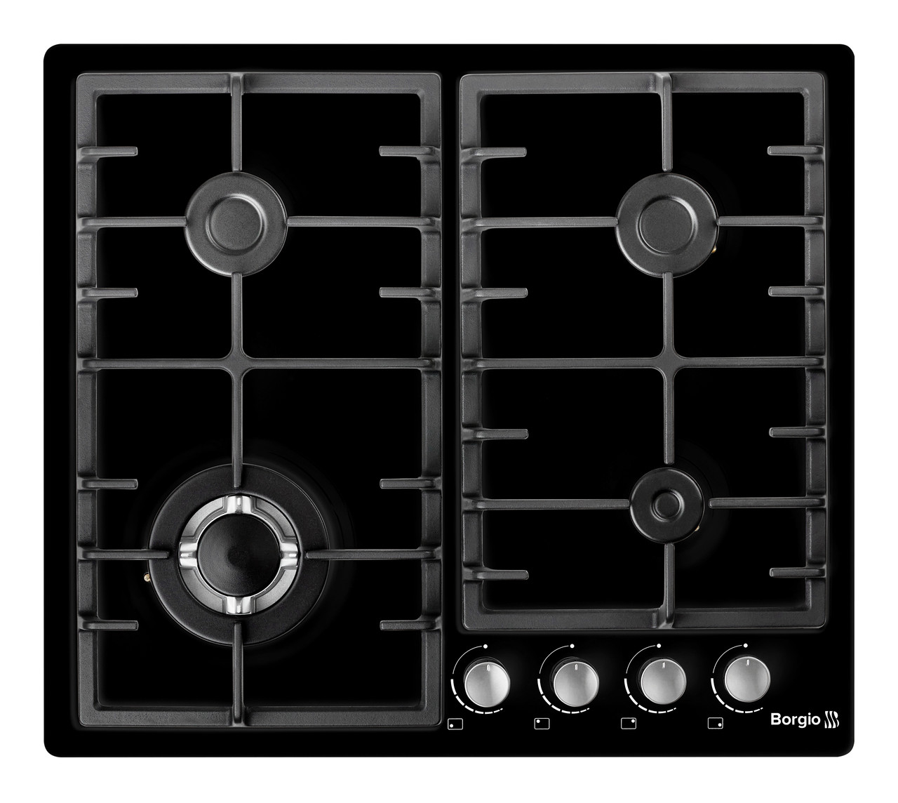 Варочная поверхность газовая BORGIO 6942-15 (Black Enamelled)