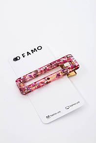 Заколка FAMO Бейли розовая Длина 6.7(см)/ Ширина 2.2(см)