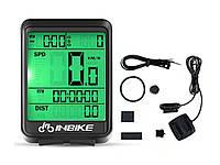 Велосипедный компьютер Inbike проводной водонепроницаемый c ЖК экраном Проводной Зеленая подсветка