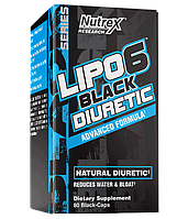 Жиросжигатель диуретик Nutrex Lipo 6 Black Diuretic 80 капсул