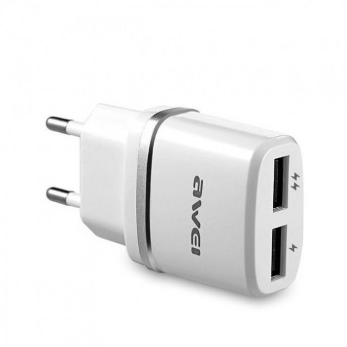 Сетевой адаптер Awei C-930 5V, 2.1A, 2 USB Оригинал