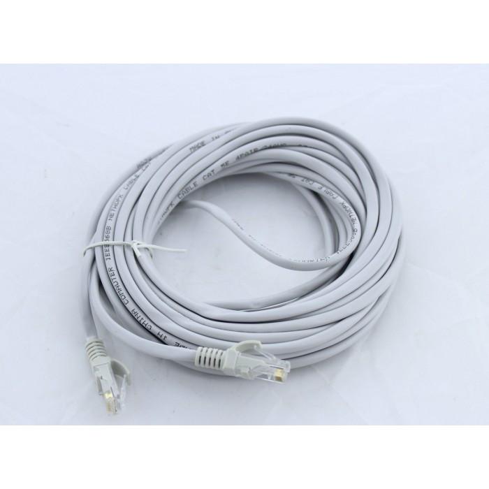Патчкорд, витая пара для интернета LAN 10м 13525-9 серый Оригинал