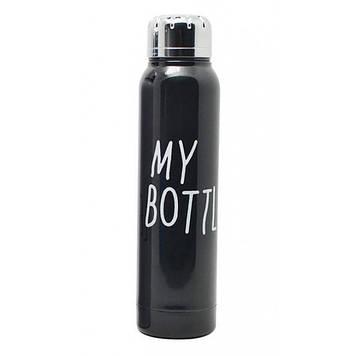 Стильный термос My Bottle 300 мл 9045 металлический Чёрный Оригинал