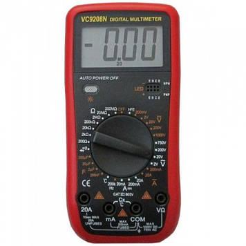 Цифровой Профессиональный мультиметр VC9208N тестер вольтметр + термопара Оригинал