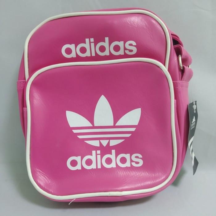 Сумка через плечо Adidas Style Sport Размер 23х18х8 длина ручки 1м30см РОЗОВАЯ Оригинал