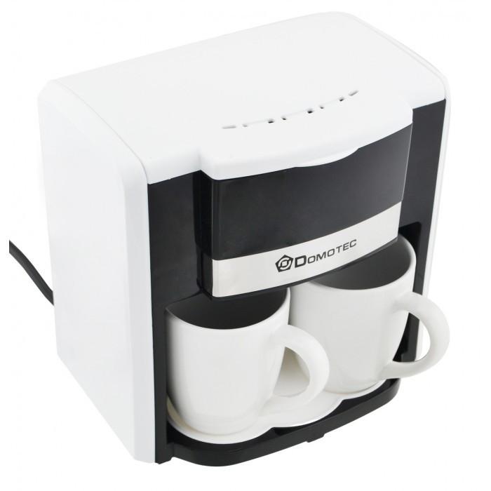 Капельная кофеварка DOMOTEC MS-0706 + 2 чашки белая Оригинал