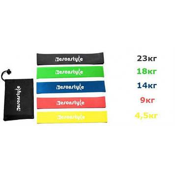 Резинка для фитнеса и спорта Esonstyle (эластичная лента эспандер) набор 5 шт + Чехол в комплекте Оригинал