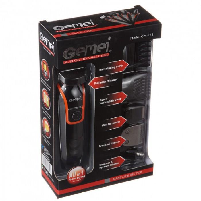 Беспроводная Машинка для стрижки волос GEMEI GM-583 + Триммер Оригинал