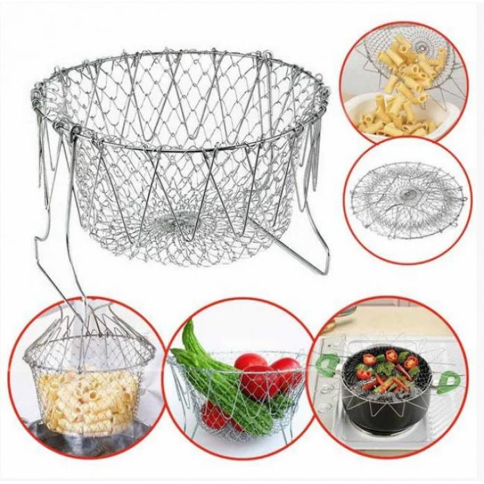 Складная решетка - дуршлаг Magic Kitchen Chef Basket Оригинал