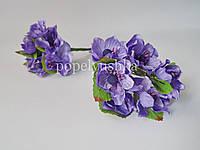 """Бутоньєрка """"Яблуневий цвіт"""" фіолетова 4 см"""