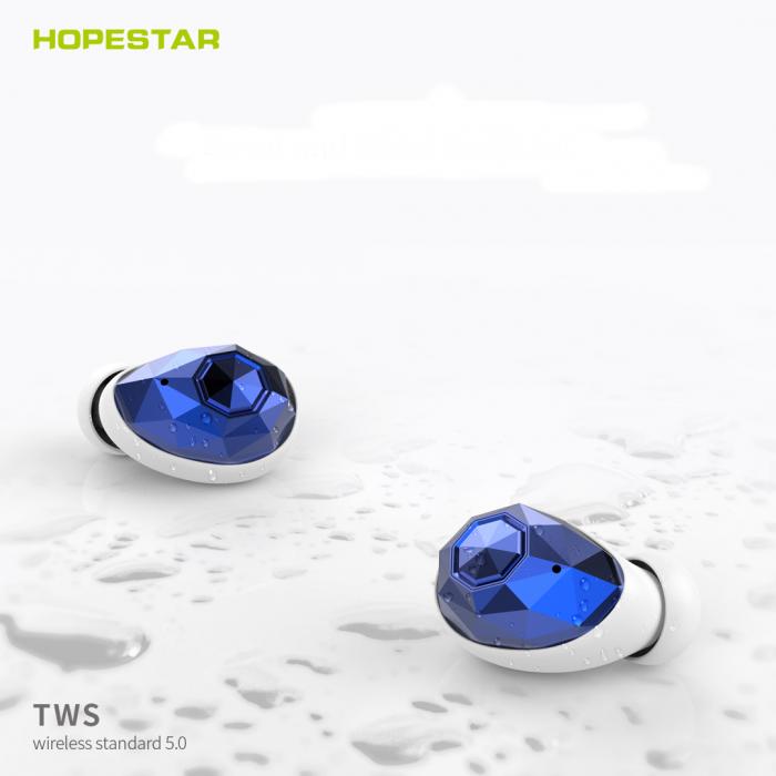 Беспроводные наушники TWS Hopestar E6 Bluetooth гарнитура 500 МАч Синие Оригинал