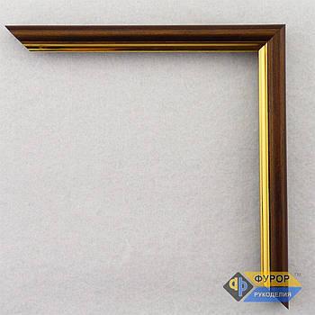 Рамка на заказ для картины, иконы, фото, вышивки, зеркала коричневая (ФРЗ-1002)