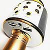 Беспроводной микрофон караоке блютуз WS-858 Bluetooth динамик USB Золотой Оригинал, фото 4