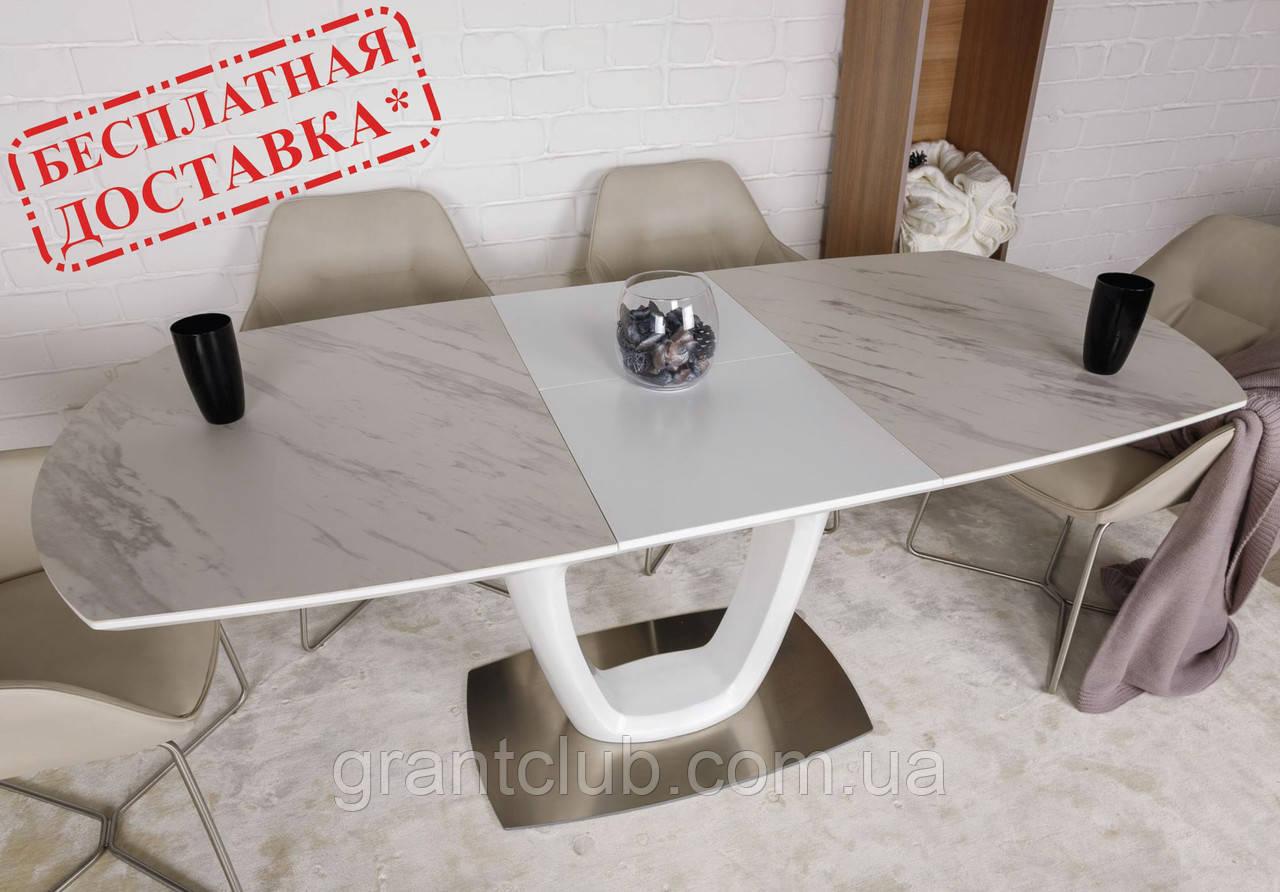 Раскладной стол OTTAWA (Оттава) 140/180х85 керамика белый Nicolas (бесплатная адресная доставка)
