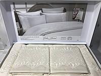 Хлопковое постельное белье с гипюром. Евро размер. 4 наволочки. Турция.