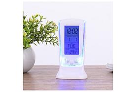 Часы-будильник Square clock ds-510 с термометром и LED подсветкой (78473)