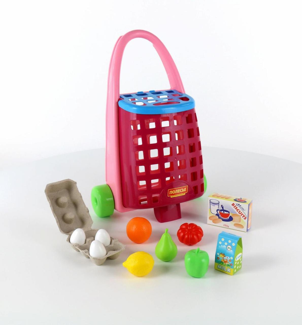 Игровой набор Полесье «Тележка с продуктами»