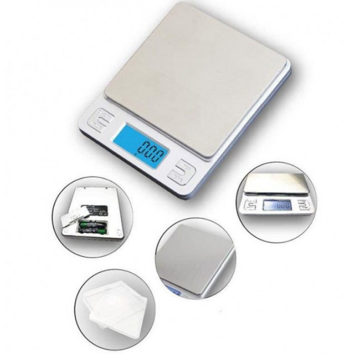 Ювелирные электронные весы KS-386 с 2мя чашами 0,01- 500 грам + батарейки Оригинал