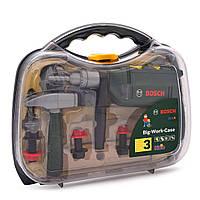 Детский Игрушечный Набор Безопасных Инструментов в кейсе со звуковыми эффектами 9 предметов Bosch Klein Кляин