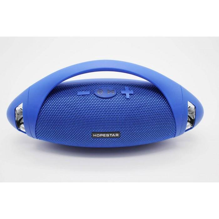 Портативная bluetooth стерео колонка спикер Hopestar H37 Синий Оригинал