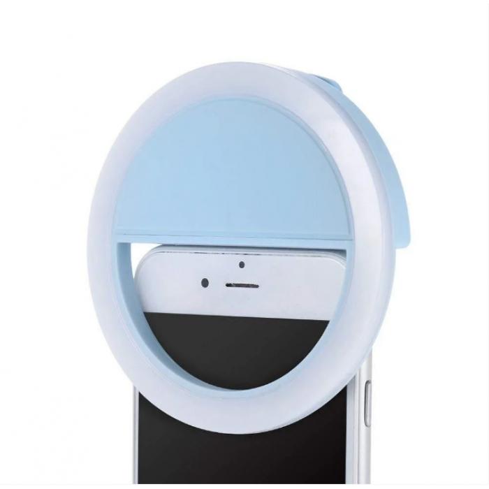 Вспышка-подсветка для телефона селфи-кольцо Selfie Ring Ligh Голубой Оригинал