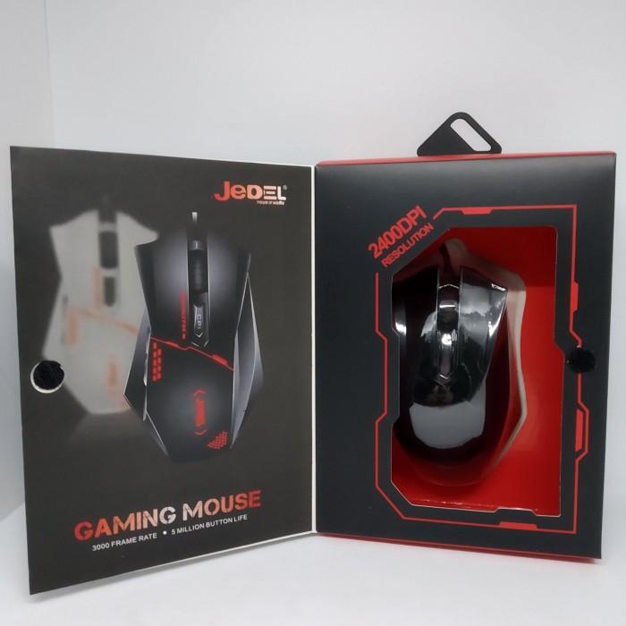 Игровая компьютерная проводная мышка USB Jedel GM300 с подсветкой Чёрный Оригинал