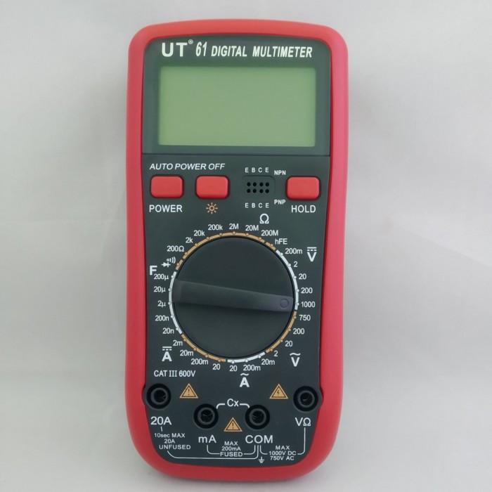 Цифровой Профессиональный мультиметр UT 61 тестер вольтметр Оригинал