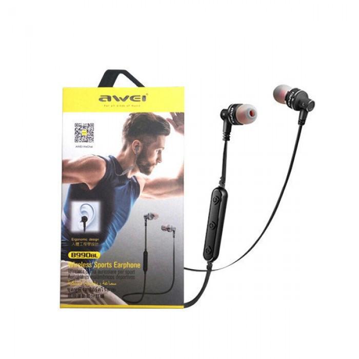 Беспроводные Bluetooth наушники Awei B990BL Чёрные Оригинал