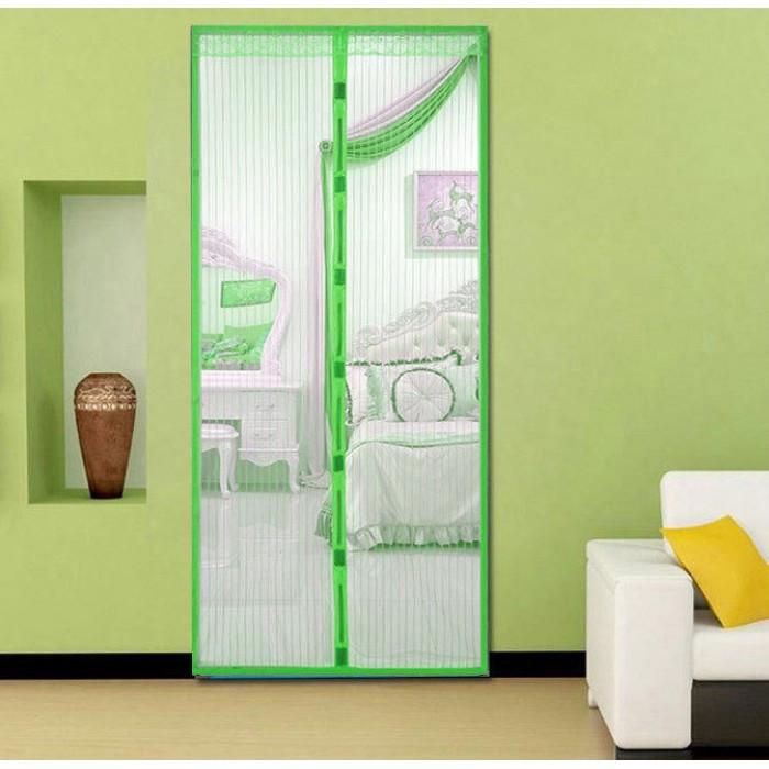 Анти москитная сетка штора на магнитах Magic Mesh 100*210 см Зелёная Оригинал
