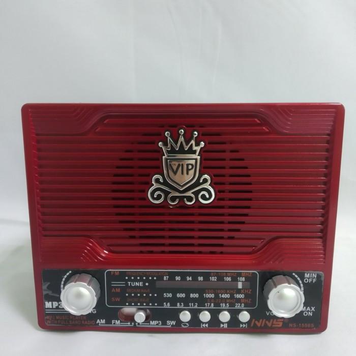 Радиоприемник NS-1556S с солнечной панелью Красный Оригинал