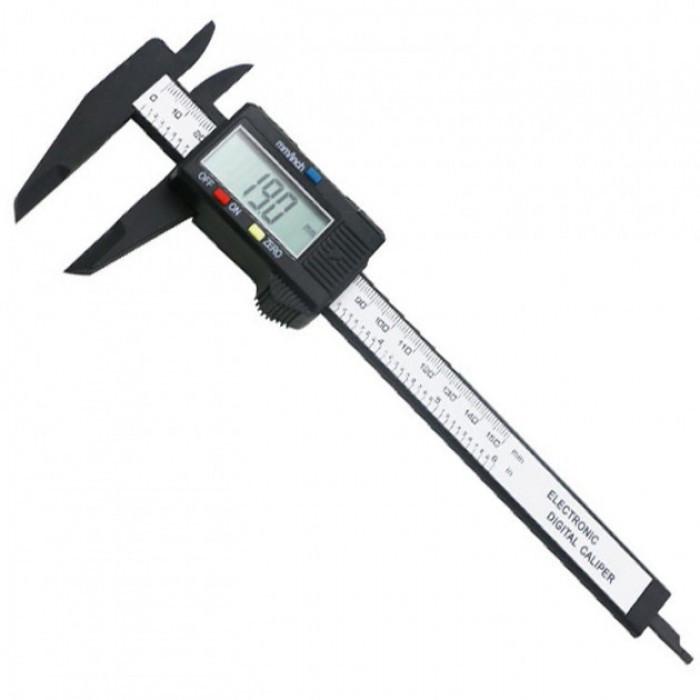 Электронный цифровой штангенциркуль микрометр с LCD дисплеем Пластмассовый Оригинал