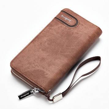 Мужской кошелек клатч портмоне барсетка Baellerry S1514 business Кофейный Оригинал