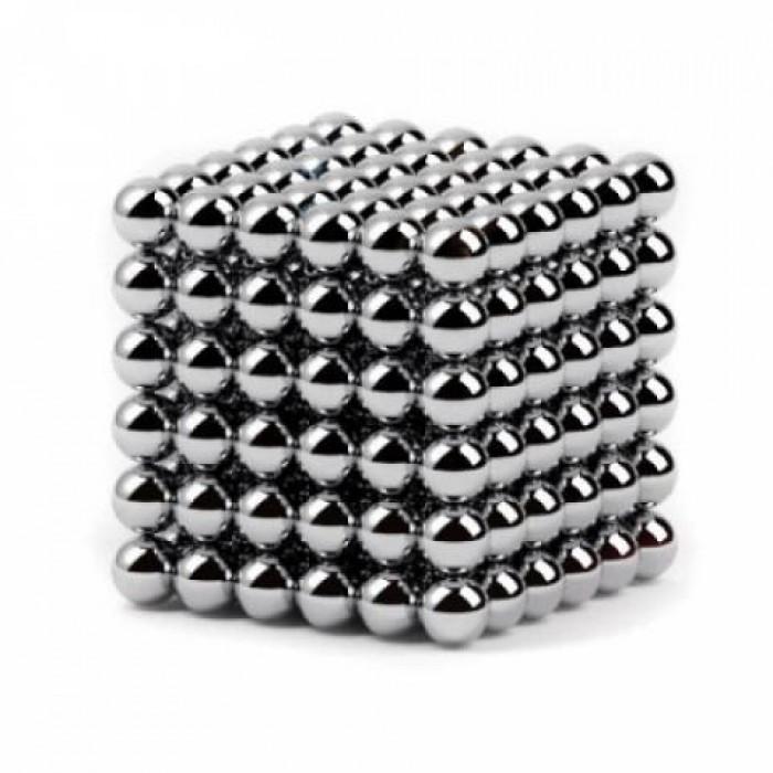 Неокуб Neocube 216 шариков 5мм в металлическом боксе серебристый Оригинал