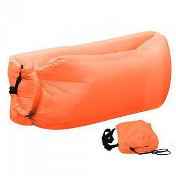 Ламзак надувной диван Lamzac гамак, шезлонг, матрас Двухслойный Оранжевый Оригинал