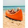 Ламзак надувной диван Lamzac гамак, шезлонг, матрас Двухслойный Оранжевый Оригинал, фото 2