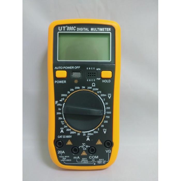 Цифровой Профессиональный мультиметр UT890C тестер вольтметр + термопара Оригинал