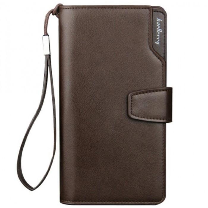 Мужской кошелек клатч портмоне барсетка Baellerry business S1063 Коричневый Оригинал
