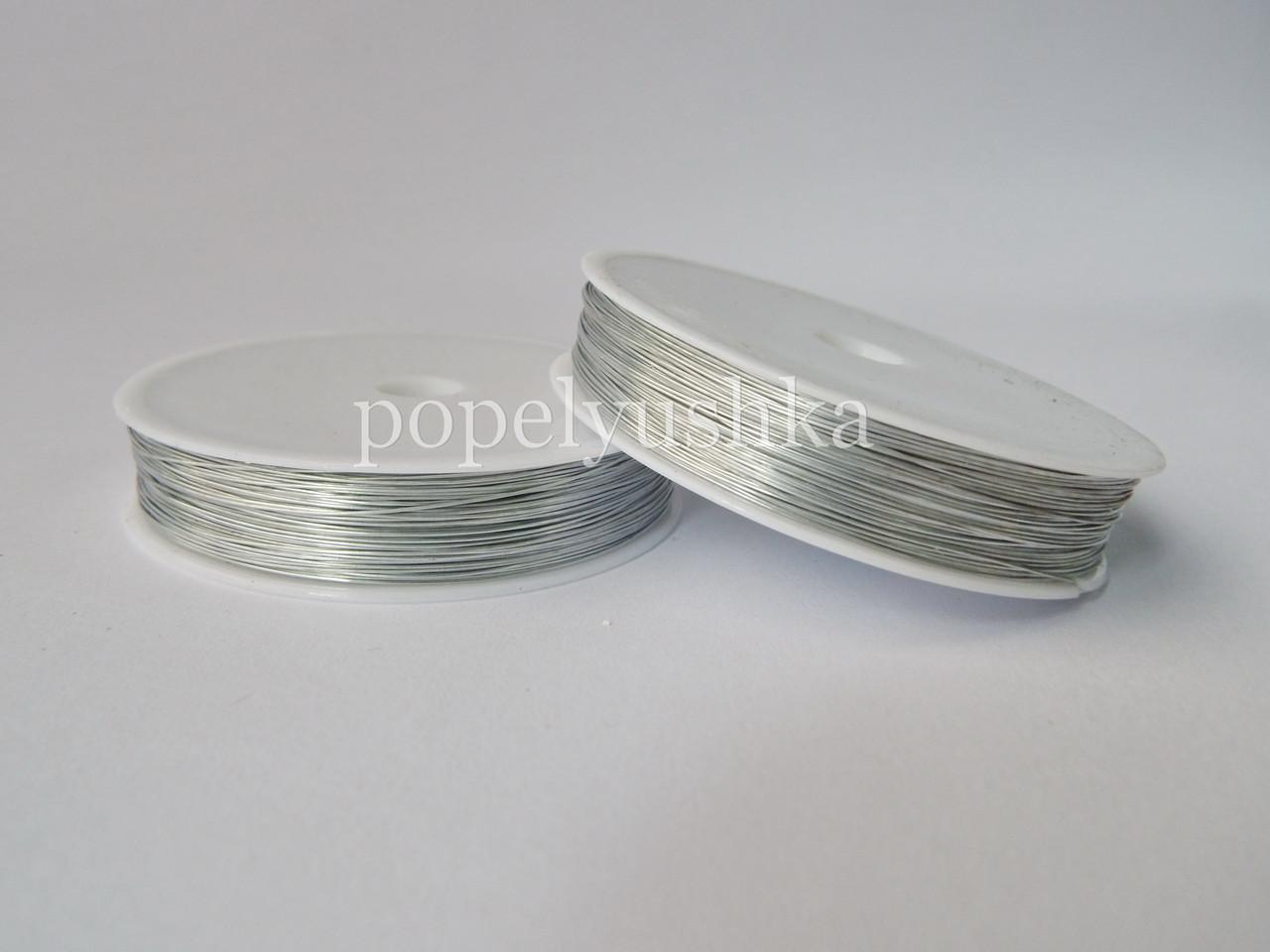 Проволока 0,3 мм срібна 50м