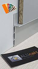 Плинтус  алюминиевый скрытого монтажа 80 мм RAL, фото 3