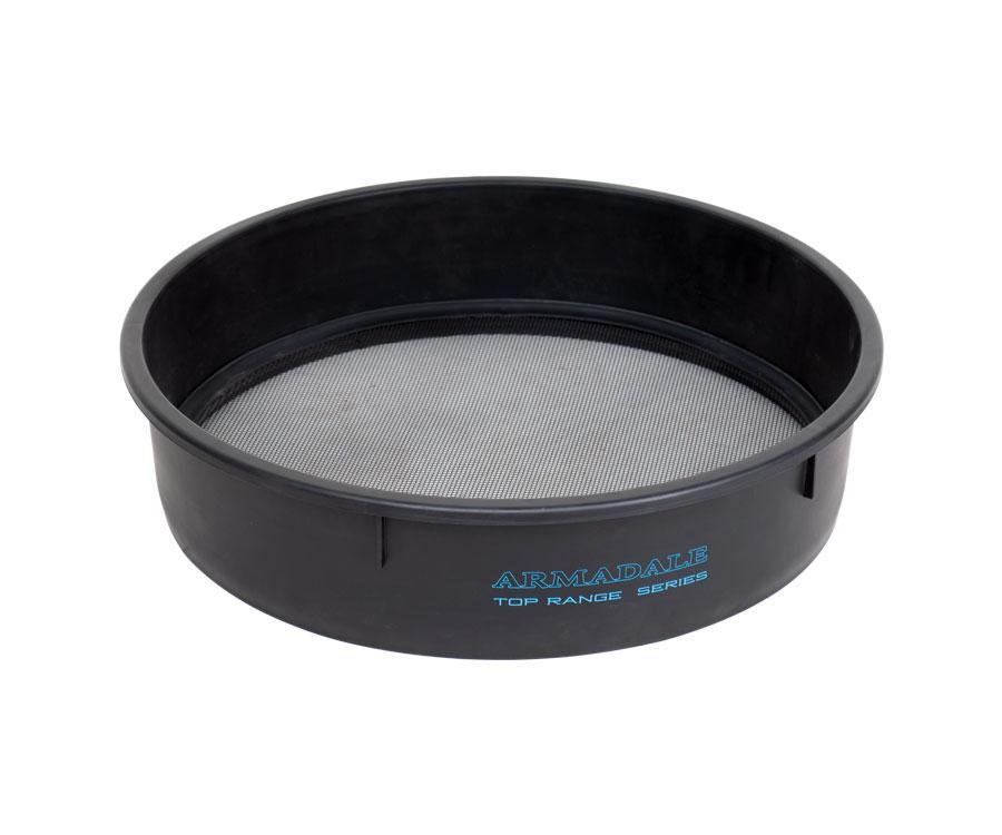 Сито для прикормки пластик plastic riddle mesh 2*2mm for bucket 45l